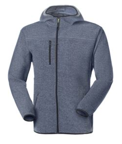 JACKET IN KNITTED FLEECE WITH HOOD
