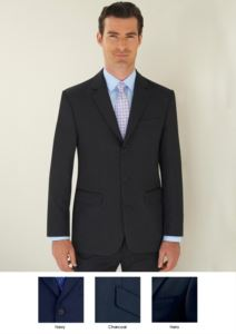 Elegant work uniform jacket with 3 button closure. Polyester and viscose fabric. Wholesale only. Get a free quote.