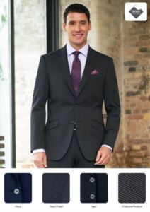 Coat in wool, caschemere and polyamide, navy, grey, black. Ideal for uniforms of porter, hotel, receptionist. Get a free quote.