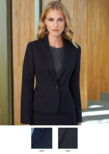 Women's jacket for professional use (e.g.: promoters, receptionists, hoteliers). 100% polyester.