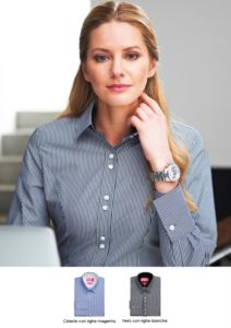 Elegant cotton and polyester uniform shirt, easy iron. Ideal for receptionists, hostesses and hoteliers. Get a quote.