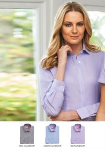 Cotton and polyester shirt, semi-tight fit. Polyester and cotton fabric. Ideal for receptionists, hostesses and hoteliers.