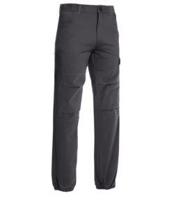 Pantalone multitasche da lavoro grigio, abbigliamento da lavoro edile