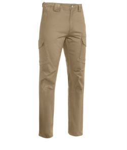 Multipocket pants in stretch cotton