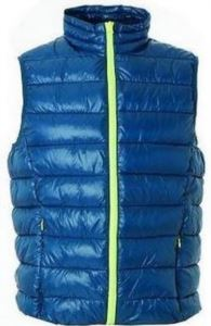 Nylon work vest with polyester padding, colour aviation blue