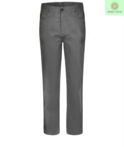 Pantalone portiere grigio, pantaloni da divisa da lavoro grigia