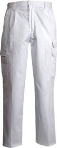 Pantaloni da lavoro multitasche  estivi bianchi, produzione abbigliamento da lavoro Piemonte