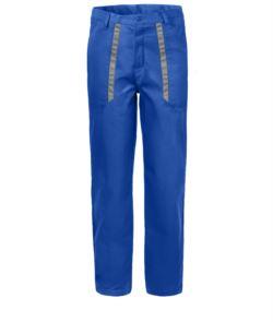 Pantaloni da lavoro azzurri, abiti da lavoro bicolore