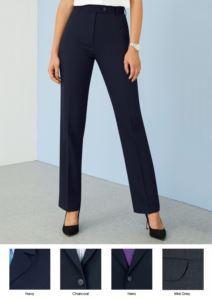 Pantaloni da donna eleganti in poliestere e lana e tessuto antipiega. Ideali per  receptionist, hostess, hotellerie. Vendita all'ingrosso.