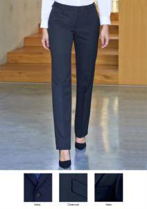Pantalone elegante da donna in poliestere e viscosa, con grammatura a 390 gr/mq. Ideale per  receptionist, hostess, hotellerie.