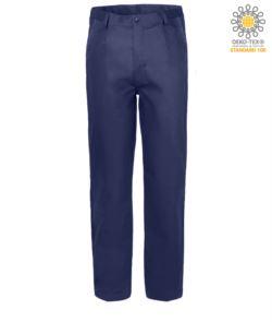 Pantaloni da lavoro 100% Cotone Massaua colore blu
