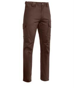 Pantalone da lavoro multitasche marrone, abbigliamento da lavoro forestale