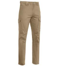 Pantalone da lavoro multitasche kaki, abbigliamento da lavoro Piemonte