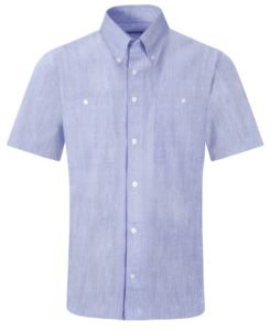 men shirt with short sleeves blue color for work uniform