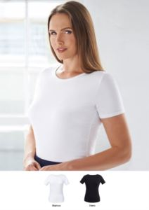Stretch tops viscose and elastane shirt. Clothing for receptionists, hostesses, hoteliers. Ask for a free quote.