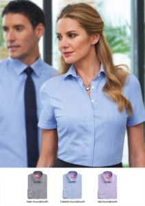 Women's shirt for elegant work uniform. Polyester and cotton fabric. Wholesale sale. Request a free quote