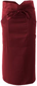 Cook apron with polyester, burgundy colour