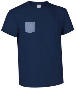 indumenti protettivi per elettricisti,abiti promozionali Roma,Tshirt con taschino blu