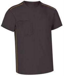 vestiario da lavoro Lombardia,indumenti da lavoro produzione,T shirt mezza manica grigia