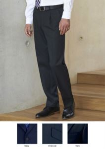 Elegant men trousers with a classic cut, two welt pockets, in polyester and viscose fabric. Contact us for a free quote.