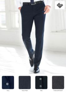Elegant slim fit men trousers, side pockets, cotton and elastane fabric. Contact us for a free quote.
