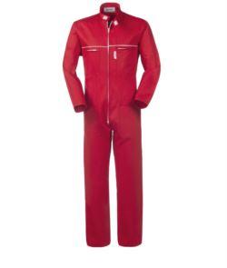 Tuta da lavoro intera rossa,abiti da lavoro per meccanici,tuta da imbianchino cotone