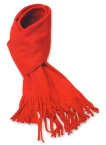 Warm fleece scarf